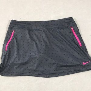 Nike Golf Dri-fit Skort size Large Gray with Black